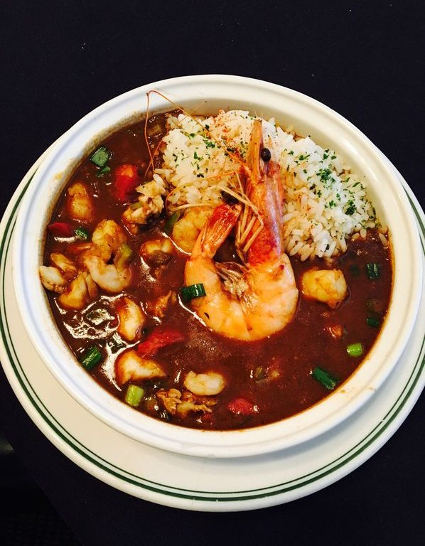 RT's Restaurant Death by Gumbo! With shrimp, oysters, crawfish, crab meat and andouille sausage Seafood Restaurant
